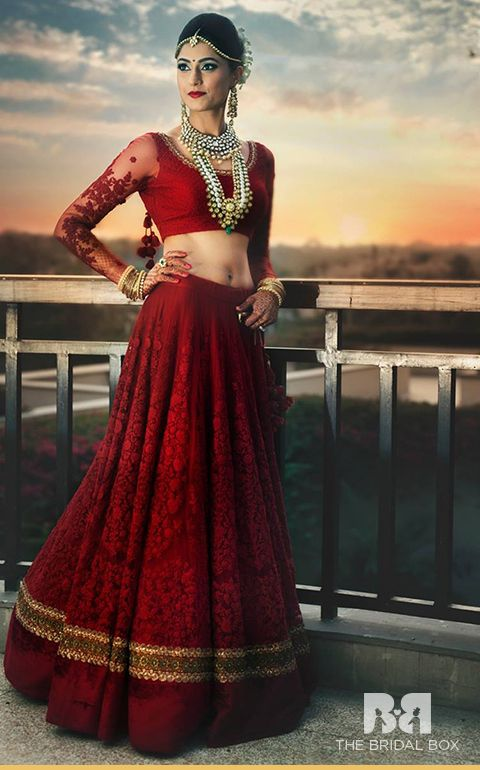 10 Fabulous Red Bridal Lehenga Cholis For The Perfectionist Bride                                                                                                                                                                                 More