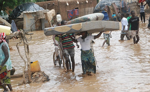 Niger's capital city was hit was severe flooding just before the region suffered from extreme drought.