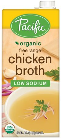Organic Low Sodium Chicken Broth - Pacific Foods | Lower Sodium, Low Fat, Fat Free, Gluten Free, Dairy Free, Corn Free, Soy Free, Wheat Free...