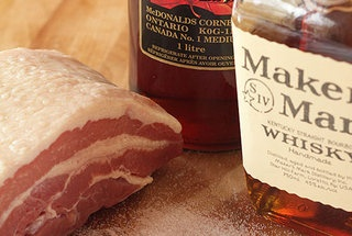 Maple Bourbon Bacon, Grits and Eggs | yum | Pinterest