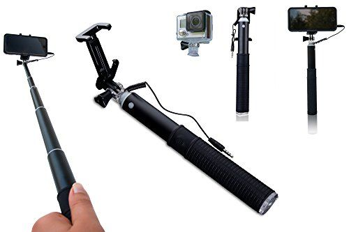 selfie stick premium quality cable version by zivachi all in one aluminium monopod for iphone. Black Bedroom Furniture Sets. Home Design Ideas
