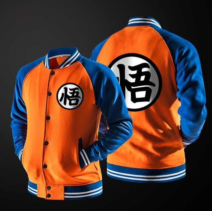 Anime Dragon Ball Hoodie Cosplay Jacket Coat College Casual Sweatshirt