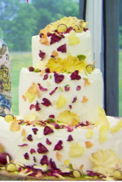 great british baking show wedding cake midsummer s themed wedding cake from great 14917