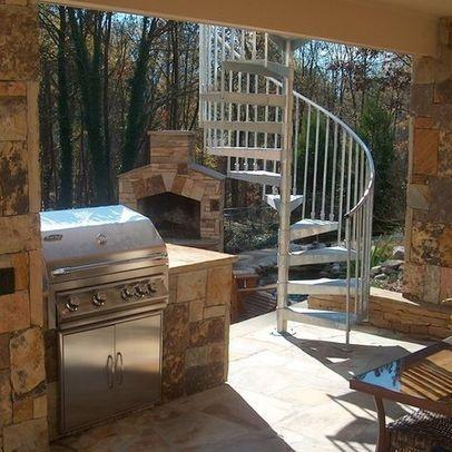 Arnold Masonry Outdoor Kitchen, Stonework, Staircase