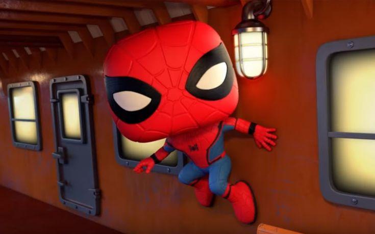 Marvel Collector Corps Spider-Man Homecoming Trailer - 「スパイダーマン : ホームカミング」のハイスクール・スパイダーマンが、ハゲタカ男のヴァルチャーを捕獲するファンコのショート・アニメ - 映画 エンタメ セレブ & テレビ の 情報 ニュース from CIA Movie News / CIA こちら映画中央情報局です