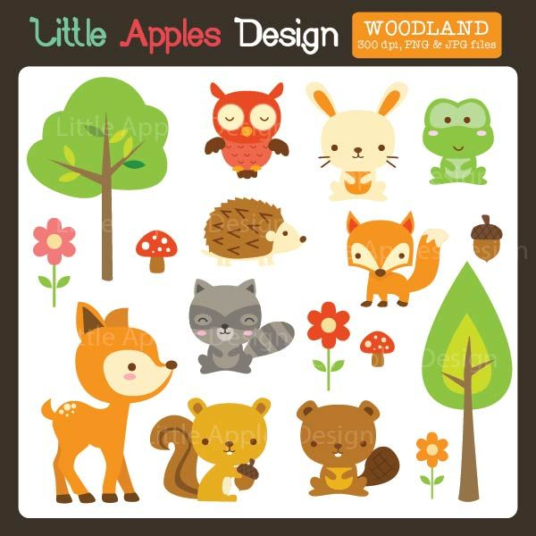 Woodland Clipart - perfect for your creative projects, invitations, scrapbooking and more.