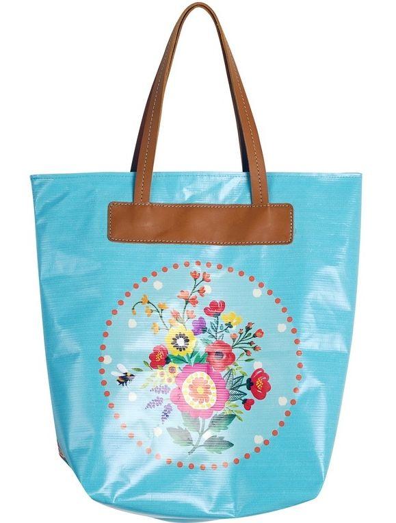 Bag - shopper in printed PU
