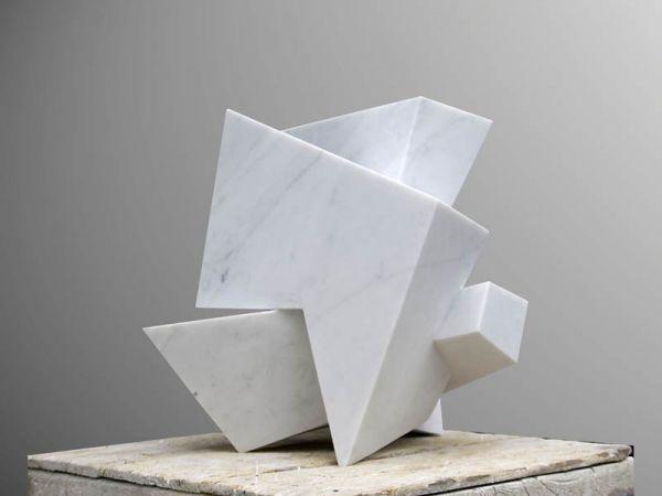 Sculpture: 'On Edge (abstract Contemporary marble Indoor Carving statue sculpture)' by sculptor Neil Ferber in Conceptual Art Sculptures - Garden Sculpture for sale - ArtParkS Sculpture Park - Bringing Sculpture into the Open