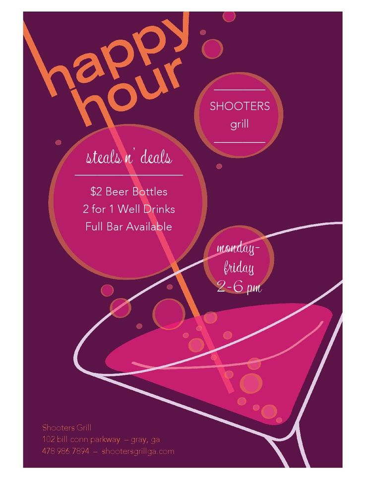 Shooters Grill and Bar Happy Hour Specials