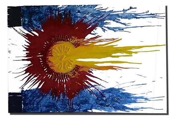 One+of+a+kind+Colorado+Flag+Crayon+Art+by+ColoradoCrayon+on+Etsy,+$150.00