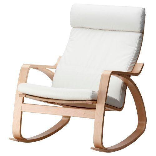 Cadeira De Balanço Em Madeira De Reflorestamento Estofada - R$ 549,90