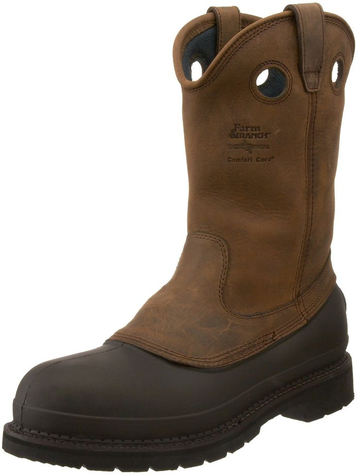 "Georgia Boot Men's Mud Dog 12"" Pull On Steel Toe Work Boot  $107.00. I think this is affordable. #Boots #Workboots #shoe"