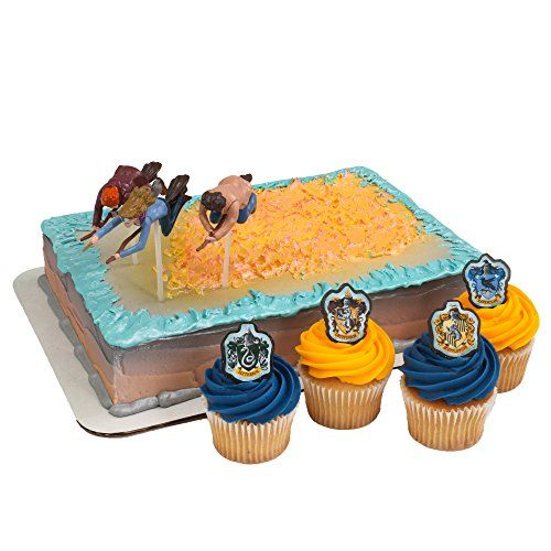 Harry Potter Cake Decorating Kit Topper : Harry Potter Cake Topper and 24 Cupcake Topper Rings ...