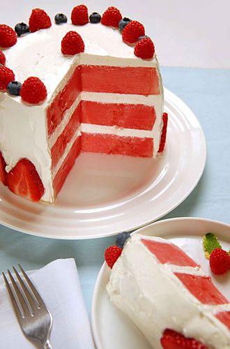 Watermelon Cake! Perfect for Jen's birthday!!