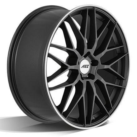Die neue AEZ Crest dark. Sportliche Felgen in gunmetal matt mit polished Lip in 17, 18, 19, 20 und 21 Zoll.