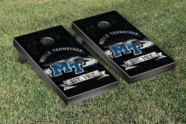 Middle Tennessee State University Raiders Rustic Established Banner Cornhole Game