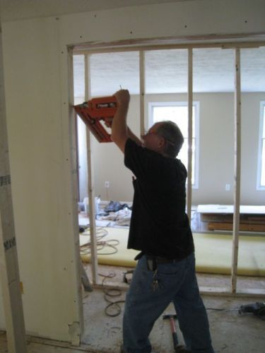 how to remove a load bearing wall part 2 one project closer diy ideas pinterest we. Black Bedroom Furniture Sets. Home Design Ideas