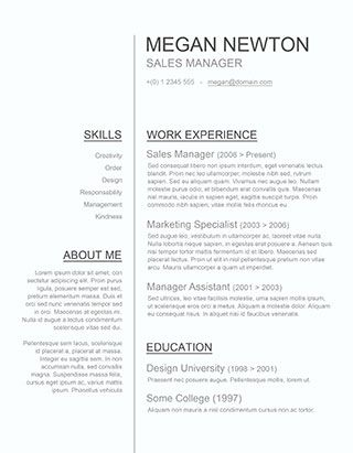 Plain and Simple \u2013 A Basic Resume Template Giveaway Make up