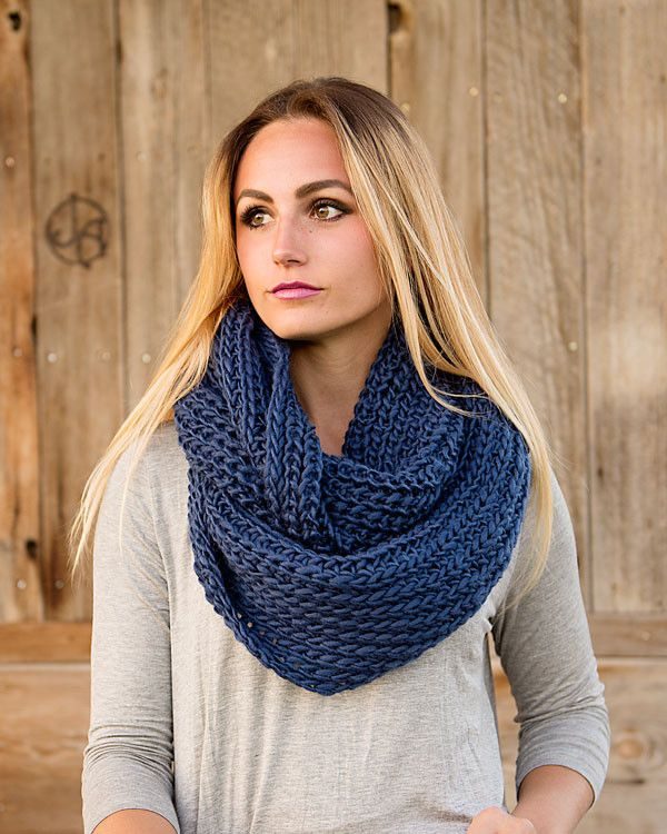 Wide Knit Infinity Scarf -- One of the Top 15 selling products of 2015 | Girls fall fashion, Poncho outfit, Fashion