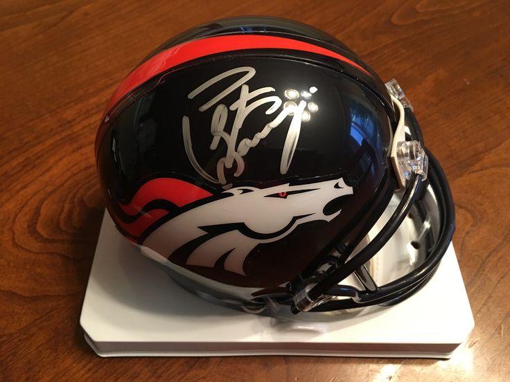 Peyton Manning Denver Broncos Hand Signed Autographed Riddell Mini Helmet