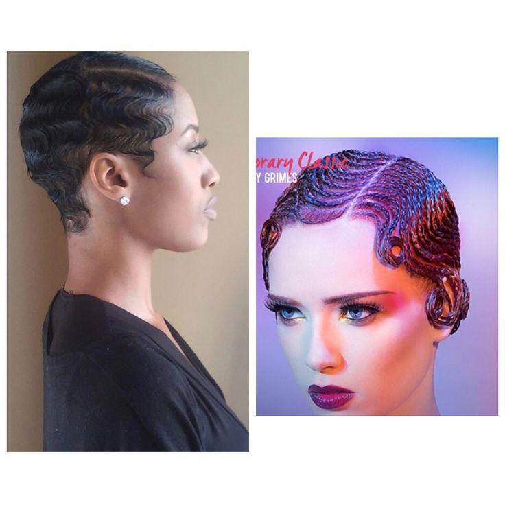 Finger Waves On Natural Hair Black Women Natural