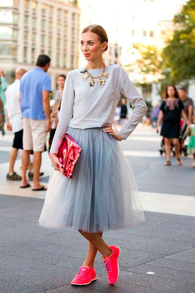 Falda midi casual