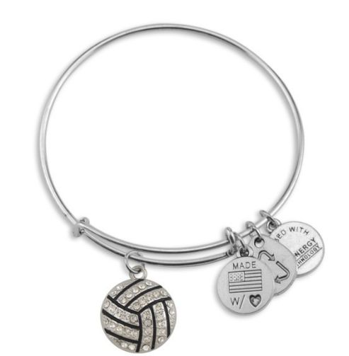 crystal volleyball charm Alex and Ani bracelets
