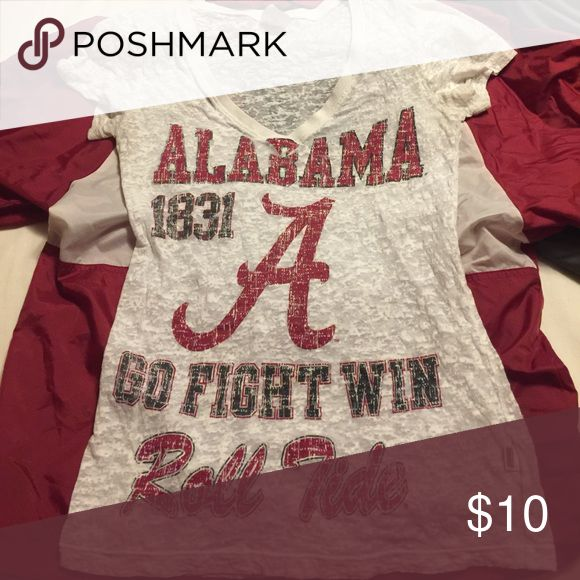 Alabama shirt Alabama Crimson Tide see through shirt. Size Medium but fits more like a small. Soffe Tops Tees - Short Sleeve