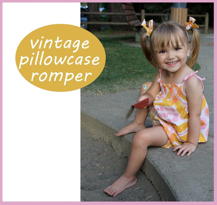 Vintage Pillowcase Romper Tutorial - Peek-a-Boo Pages - Sew Something Special