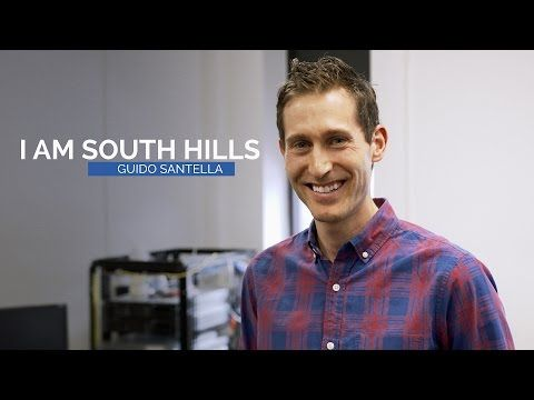 """""""I Am South Hills"""" – Guido Santella is an Information Technology instructor at the Altoona campus of South Hills. In 2013, he was named Outstanding Educator of the Year by the Pennsylvania Association of Private School Administrators (PAPSA). Learn a more about his teaching style and outside interests in the third installment of our """"I Am South Hills"""" video series."""
