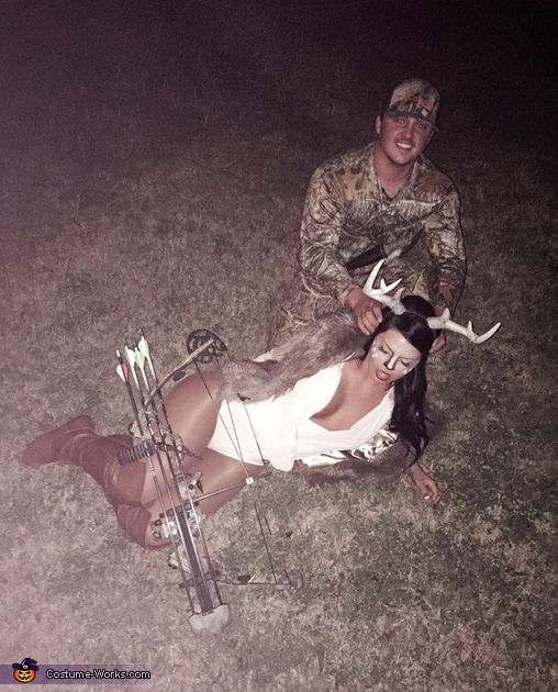 Deer and Hunter - 2014 Halloween Costume Contest via @costume_works
