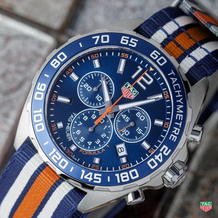 TAG Heuer  Let your motoring spirit loose with the striking TAG Heuer Formula 1 Chronograph Nato Strap! Find it: http://tag.hr/Formula1Nato