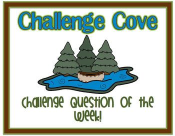 Weekly Challenge Questions for Intermediate Grades *Common Core Based*  Great for EARLY FINISHERS!