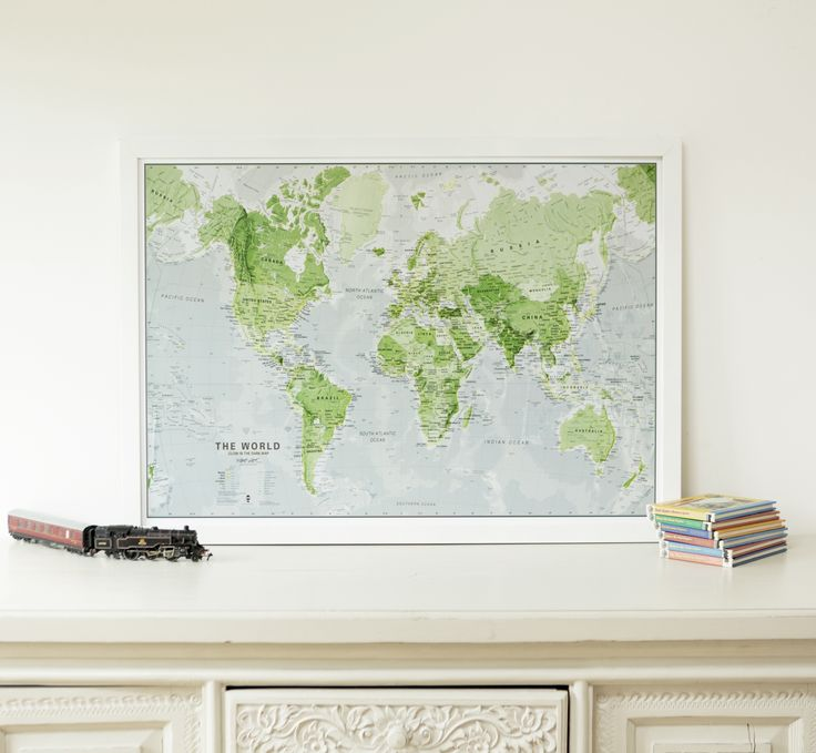 Glow in the Dark Map of the