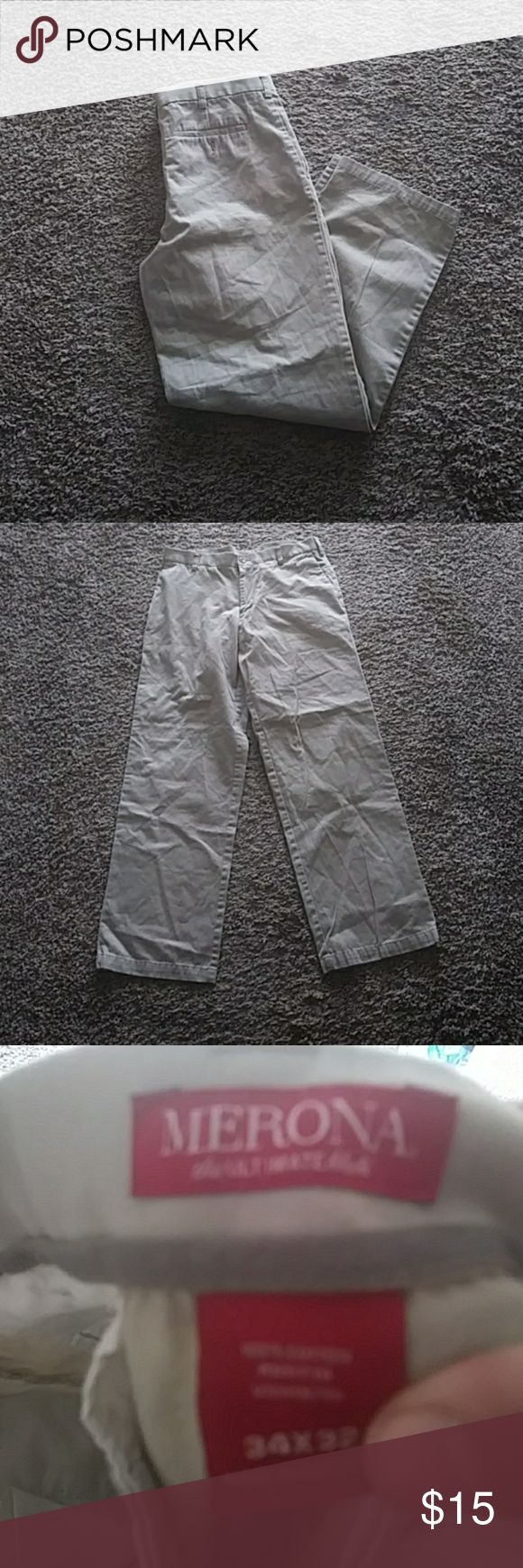 Men's Khaki Pants Good condition. Size 34in x 32in Merona Pants Chinos & Khakis