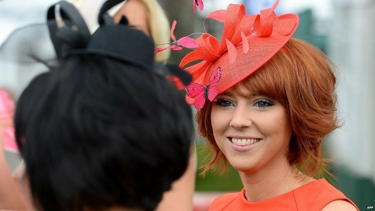 Race-goers at Ladies' Day at the Grand National, Aintree. April 2014.