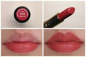 Revlon 225 Rosewine. A flattering, creamy, saturated matte off-red.