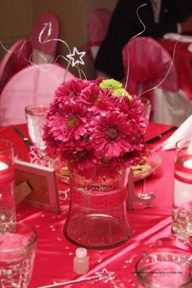 The best hot pink centerpieces ideas on pinterest