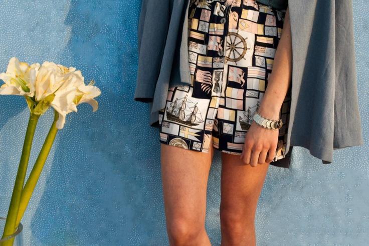 navy mood skirt_ lav unused design