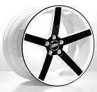 """19"""" 20"""" 22"""" STR607 Wheels Rims White Black DEEP CONCAVE 4pcs (Set) White w/Black face - Super Concaved 19 20 22""""Staggered Deep Concaved Local Pickup Welcome !!! Shipping fees include mount and balance and lugs and locks if you purchase the wheel and tire package"""