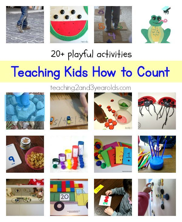 Here are over 20 playful ways to get kids excited about counting!