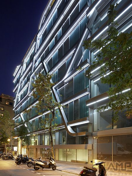 02 indirect lighting 330 pinterest office building at travessera de grcia amig barcelona spain fine strip led mozeypictures Image collections