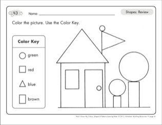 shapes review circle square triangle rectangle shape mats kinder math pinterest. Black Bedroom Furniture Sets. Home Design Ideas