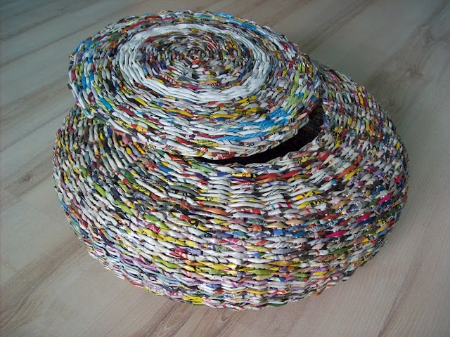 How To Weave A String Basket : Images about reduce reuse recycle on