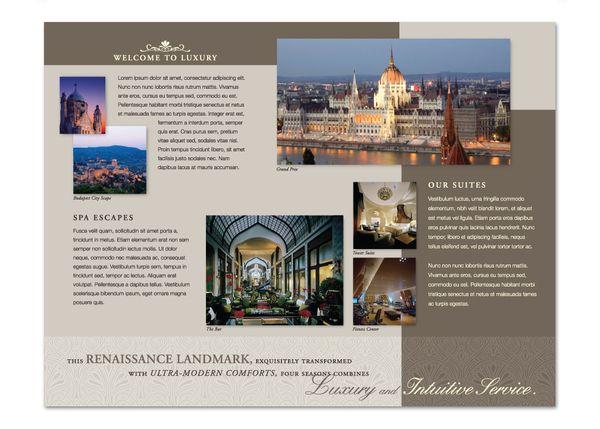 Four seasons hotel brochure by angel b lee via behance for Hotel brochure design