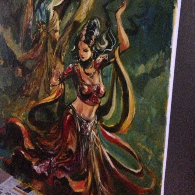Yearning..dance...magic. - Finishing the last few things before the flight. One never stops, it's a long trek, full of invigorating moments...sway with the movements of your heart, cease it make each beat count. - #instamood#instagood#instaart#igdaily#ink#Krishna#radha#love#dance#music#cosmic#universe#yogic#yogalife#painting