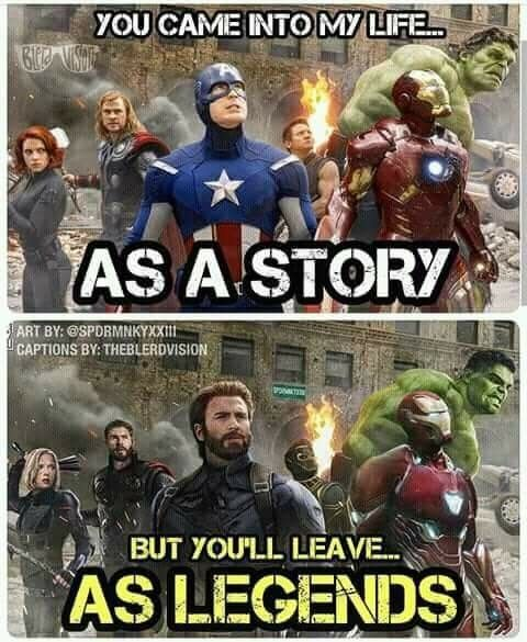 The avengers are more than a story. They are legen…