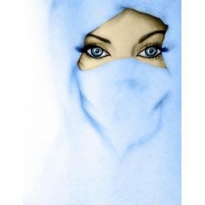 Girl in sky beautiful niqab eyes