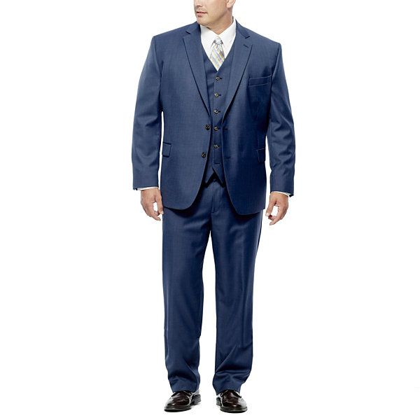 Stafford Travel Wool Blend Suit Separates-Big and Tall Fit - JCPenney