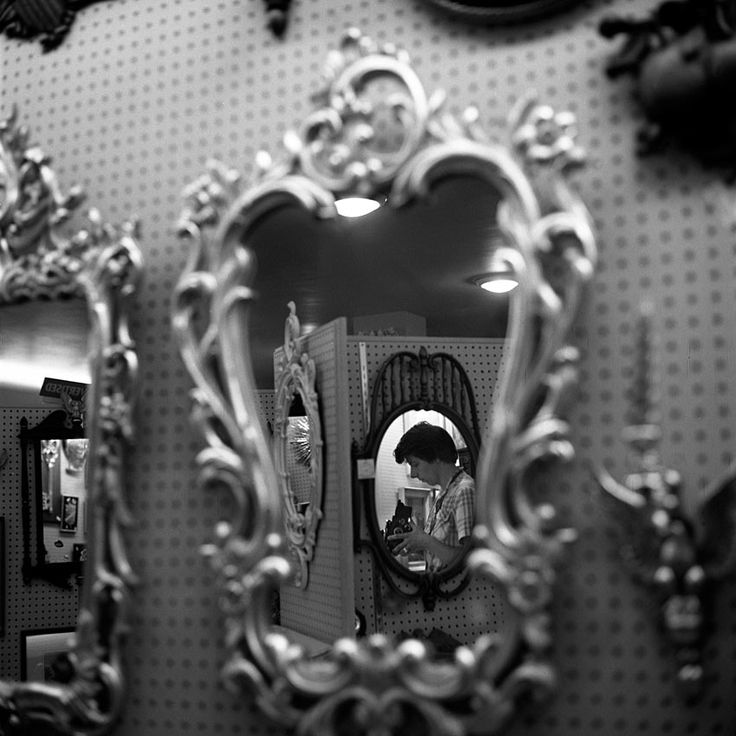 Wow! With all the mirrors she took this of herself! :Vivian Maier: